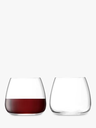 LSA International Wine Culture Stemless Wine Glasses, 385ml, Set of 2