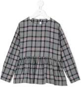 Il Gufo frilled waistband checked blouse