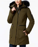 Vince Camuto Mixed-Media Layered Parka