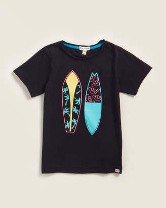 Appaman Boys 4-7) Black Surfboard Tee