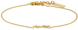 Saint Laurent Gold Logo Chain Bracelet