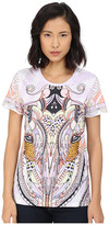 Just Cavalli Leo Deco Print Cotton T-Shirt Relaxed Fit