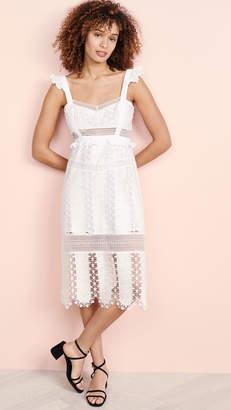 For Love & Lemons Gabrielle Midi Dress