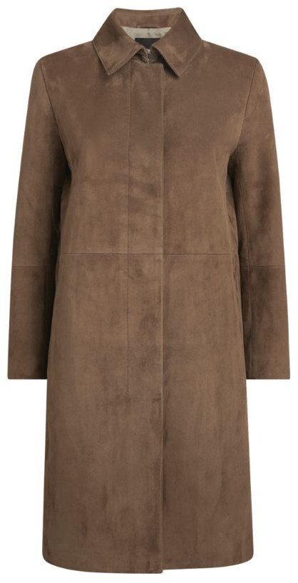 Theory Button-Down Suede Coat