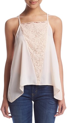 Taylor & Sage Women's Satin Cami with Lace