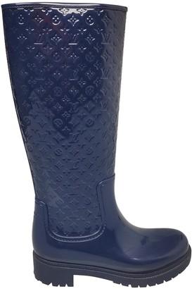 Louis Vuitton Drops Navy Rubber Boots
