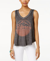 Hybrid Juniors' California Graphic High-Low Tank Top