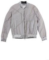 Longjourney Zip Front Cotton Bomber Jacket