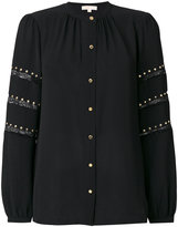 MICHAEL Michael Kors stud embroidered blouse