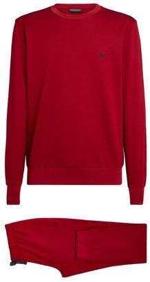Giorgio Armani Eagle Motif T-Shirt and Sweatpants Set
