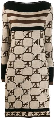 Alberta Ferretti Knitted Boat Neck Dress