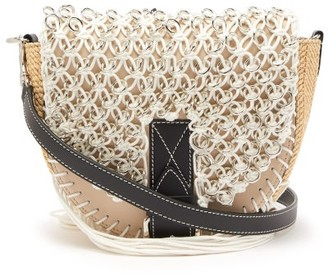 J.W.Anderson Bike Small Macrame And Leather Cross-body Bag - Womens - Beige Navy
