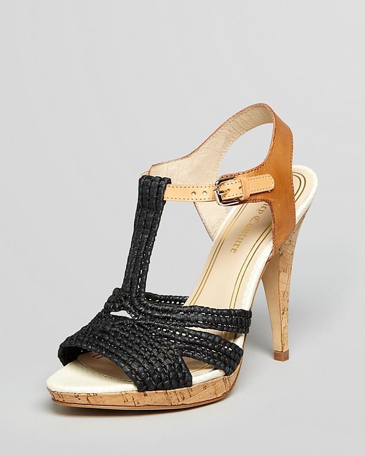 Juicy Couture Peep Toe Platform Sandals - Amali High Heel