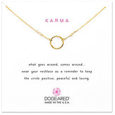 Dogeared Original Karma Dipped Sterling Silver Delicate Necklace