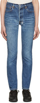 RE/DONE Re-done Blue High-rise Jeans