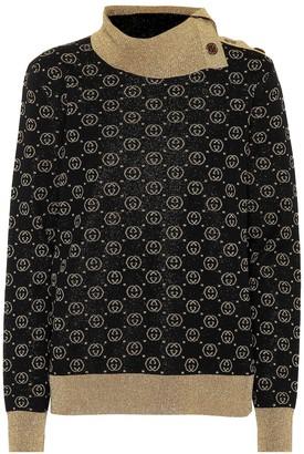 Gucci Metallic wool-blend sweater