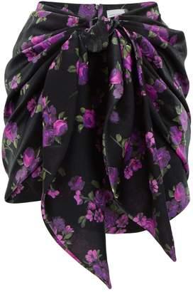 Magda Butrym Yokohama Floral Print Mini Skirt