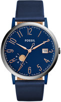 Fossil Women's Vintage Muse Blue Leather Strap Watch 40mm ES4107
