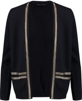Maje Chain-embellished wool and silk-blend cardigan