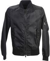 Valentino Studded Nylon Bomber Jacket