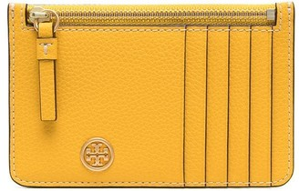 Tory Burch Zip-Up Leather Cardholder
