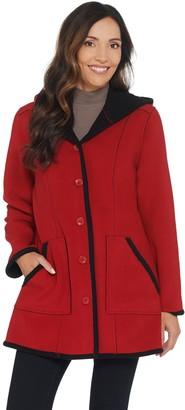 Susan Graver Weekend Bonded Polar Fleece Coat