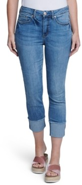 Seven7 Cuffed Slim Straight-Leg Jeans