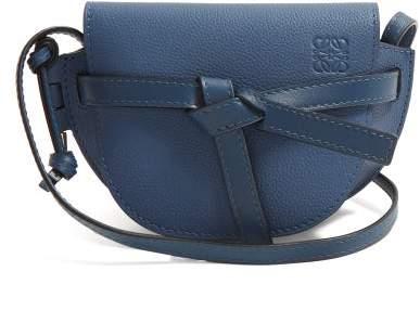 Loewe Gate Mini Leather Cross Body Bag - Womens - Blue