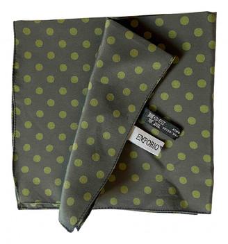 Emporio Armani Green Silk Scarves & pocket squares