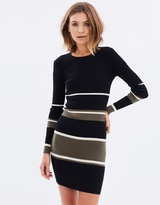 Sass Stripe Body-Con Dress