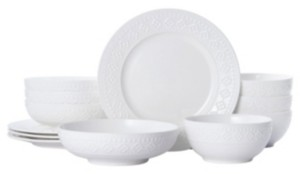 Pfaltzgraff haisley 12 pc dinnerware set, service for 4
