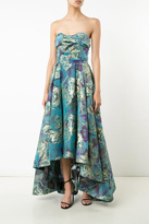 Marchesa Floral Strapless Gown