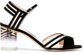 Nicholas Kirkwood Zaha Mesh-paneled Suede Sandals - Black