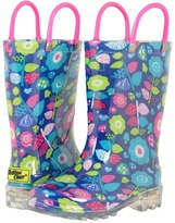 Western Chief Pop Flower Lighted Rain Boots Girls Shoes