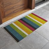 "Crate & Barrel Chilewich ® Multi Thick Striped 20""x36"" Doormat"
