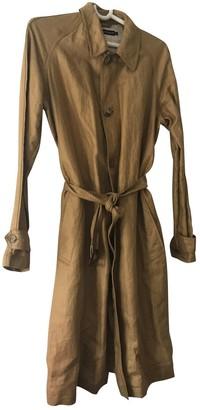 Ralph Lauren Camel Linen Trench Coat for Women
