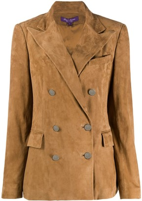 Ralph Lauren Collection Camden double-breasted suede blazer