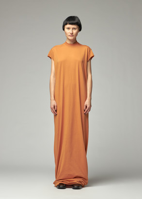 Rick Owens Women's Jumbo Gown Dress in Tangerine Size XS
