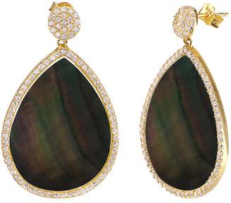 GABIRIELLE JEWELRY Gold Over Silver Pearl & Cz Earrings