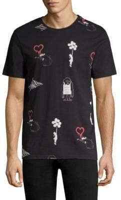 Eleven Paris Men's Graphic Cotton Tee - Black - Size XL