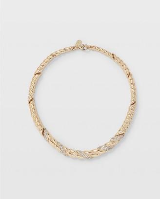 Club Monaco Crystal Twist Necklace