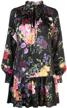 Marchesa Floral Print Mini Dress