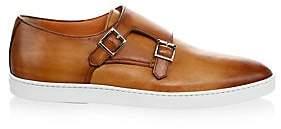 Santoni Men's FREEMONT Double Monk Strap Leather Sneakers