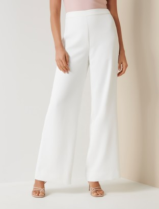 Forever New Abigail Petite Wide Leg Pants - Porcelain - 10