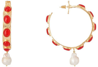 Christie Nicolaides Carmen Hoops Red