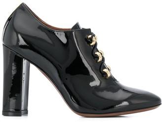 L'Autre Chose patent lace-up high heel shoes