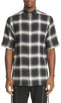 Helmut Lang Men's Plaid Trim Fit Drawcord Sport Shirt