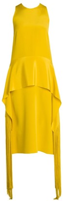 Stella McCartney Peplum Detail Midi Dress