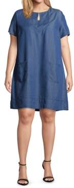 John Paul Richard Plus Size Keyhole-Neck Dress