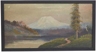 Rejuvenation Oil Painting of Mountain Landscape